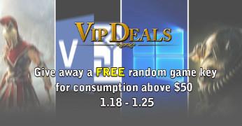 VIP Deals---Get extra FREE random game key.