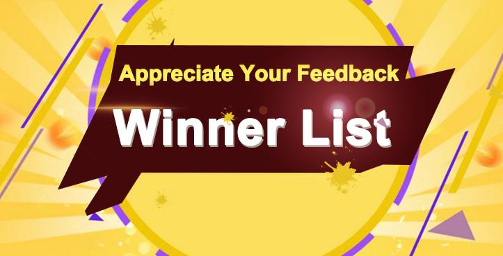 Appreciate Your Feedback: Winners Announced (25.10 2019 - 10.02 2020)