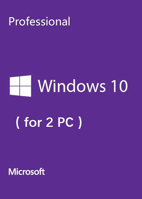 Microsoft Windows 10 Pro OEM CD-KEY GLOBAL(2 PC)