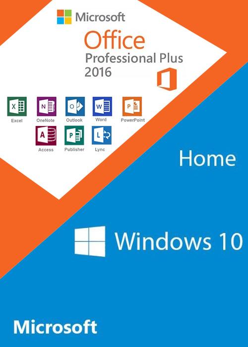 Windows10 Home + Office2016 Professional Plus KEY