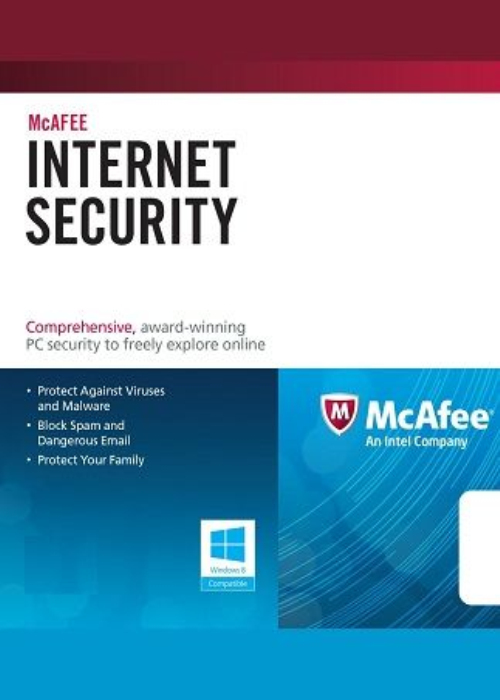 McAfee Internet Security 2017 3 PC 1 YEAR Global