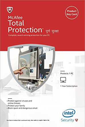 McAfee Total Protection 1 PC 1 YEAR Global