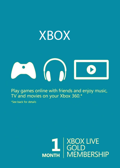 Xbox 1 Month Gold Membership Global