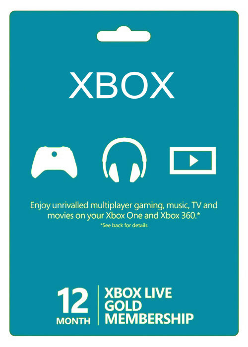 Xbox Live 12 Months Gold Membership Card North America
