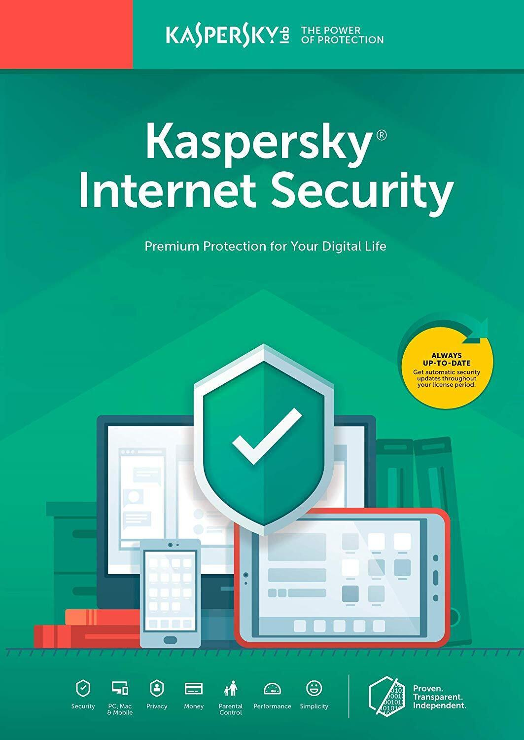 Kaspersky Internet Security 1 PC 1 Year Global Key