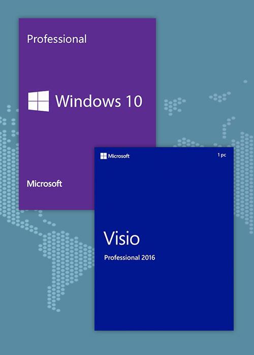 Windows10 Pro OEM + Visio Professional 2016 KEY