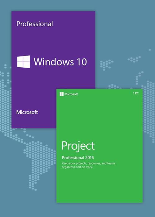Windows10 PRO OEM + Project Professional 2016 KEY