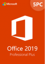 Official Office2019 Professional Plus CD Key Global(5PC)